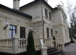 Облицовка дагестанским камнем. Фасад дома дагестанским песчаником  Отделка цоколя из гранита