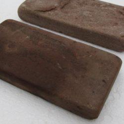 Брусчатка огалтованная, Песчаник терракото-красный. 25x100x200