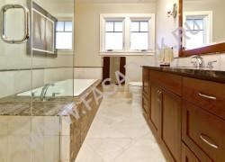 Отделка ванной комнаты из мрамора Имперадор Дарк