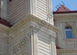 Пилястры угловые и фасад из ракушечника