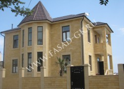 Облицовка фасада из дагестанского ракушечника