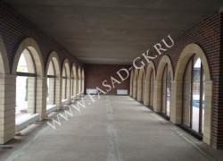 Отделка арок натуральным камнем - дагестанским песчаником
