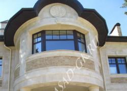 Облицовка фасада дома дагестанским камнем: дагестанский песчаник и дагестанский доломит