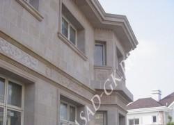 Отделка фасада дома из дагестанского ракушечника