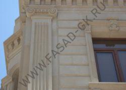 Пилястра, декоры и фасад из ракушечника